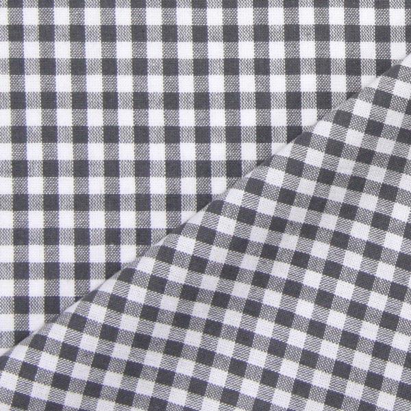 Baumwollstoff Vichy - 0,5 cm – grau