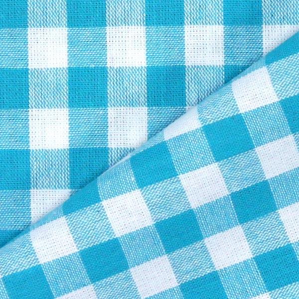 Baumwollstoff Vichy - 1 cm – türkisblau