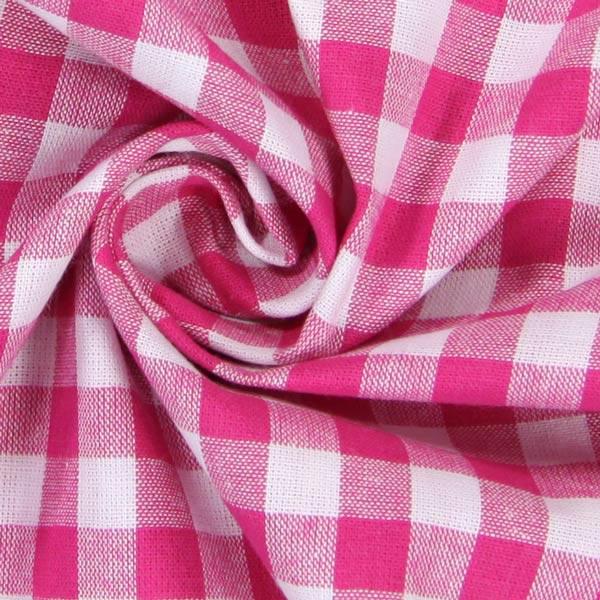 Baumwollstoff Karo - 1 cm, 7 - pink