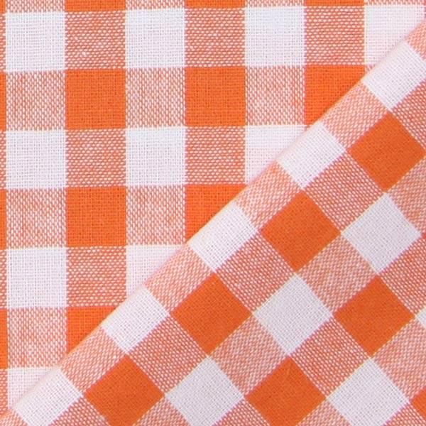 Tissu en coton Vichy - 1 cm – orange