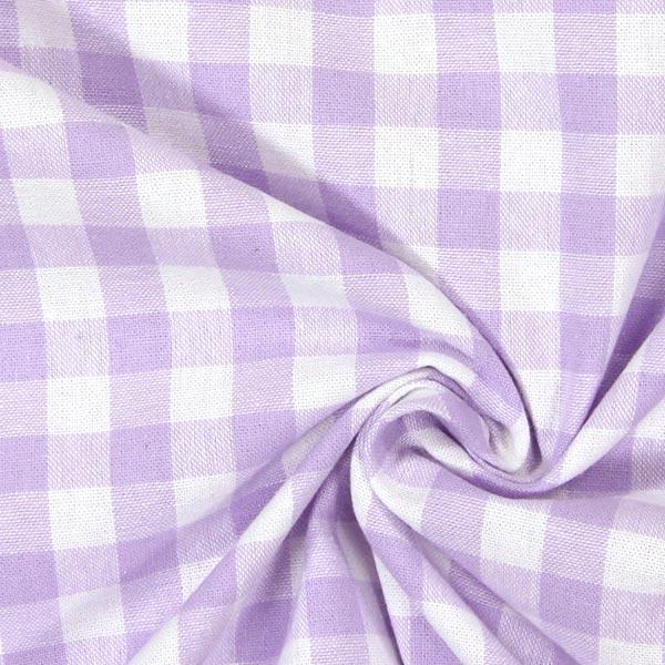 Tissu en coton Vichy - 1 cm – lilas pastel