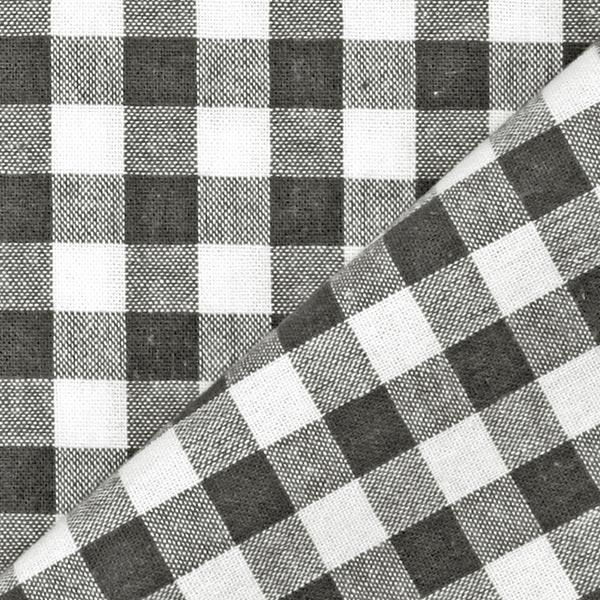 Tissu en coton Vichy - 1 cm – anthracite