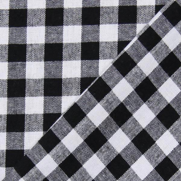 Baumwollstoff Vichy - 1 cm – schwarz