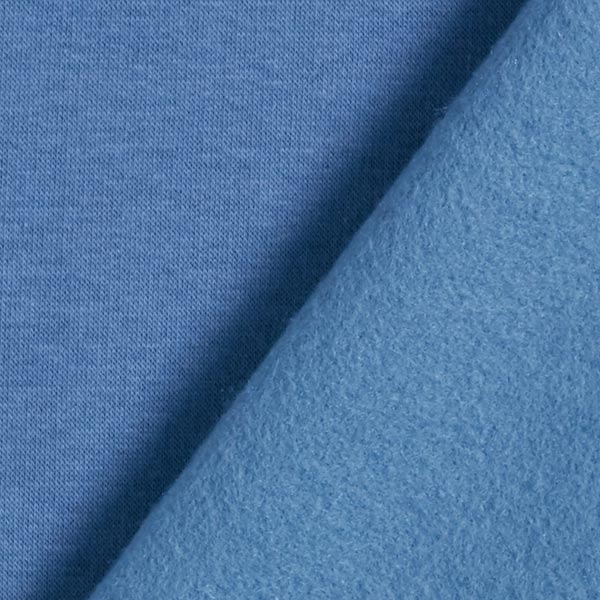 Sweatshirt gratté – bleu jean