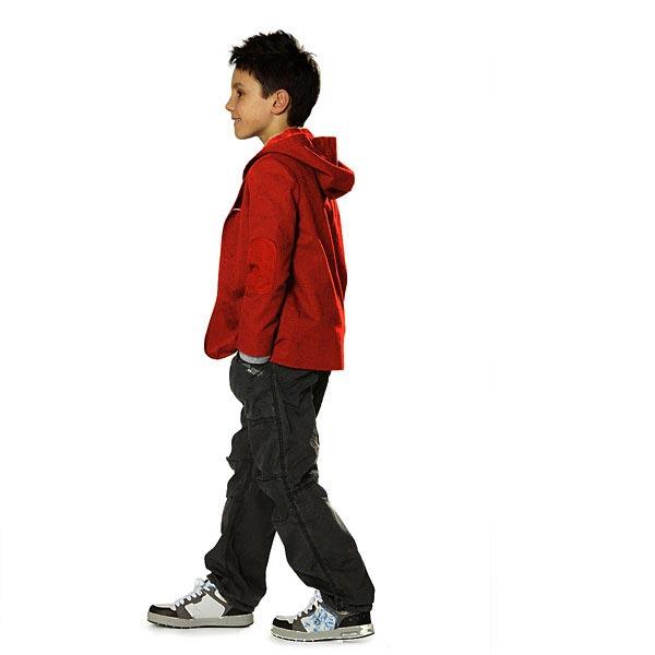 Sweatshirt rugueux – rouge vif