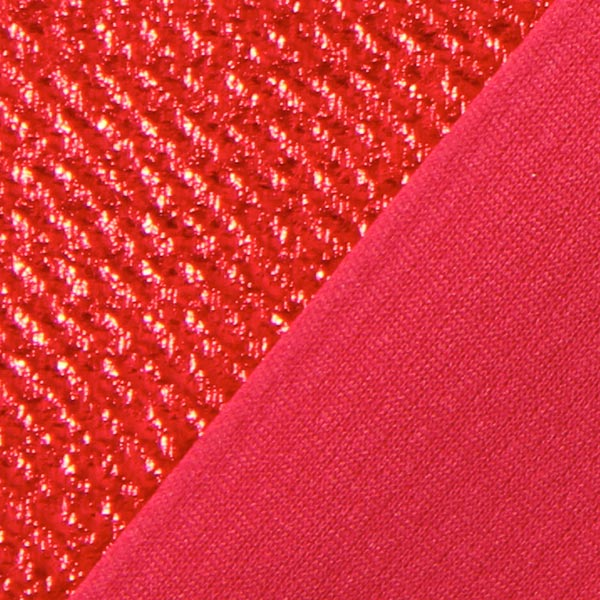 Jersey feuille Structure – rouge