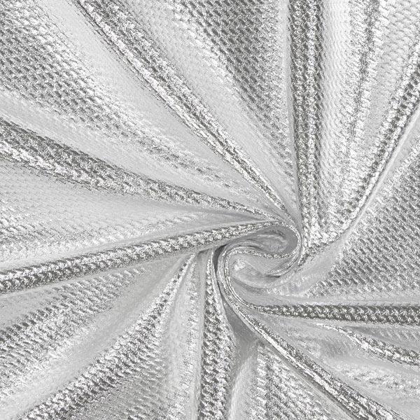 Jersey feuilles structure – argent