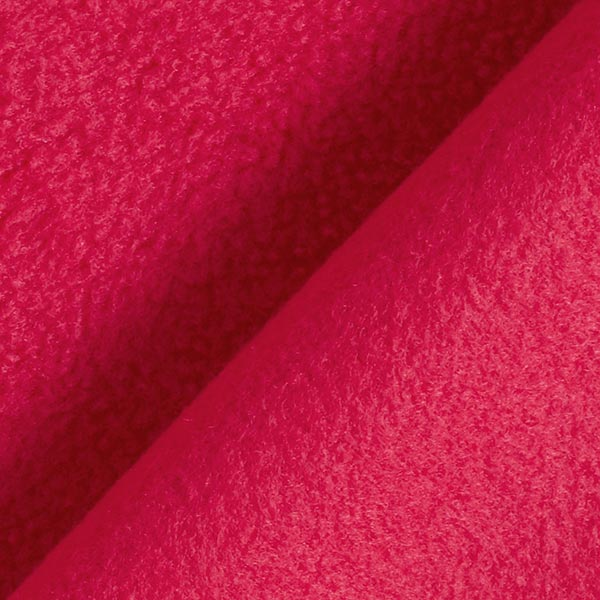 Tissu polaire - carmin
