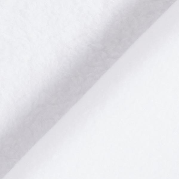 Tissu polaire - blanc