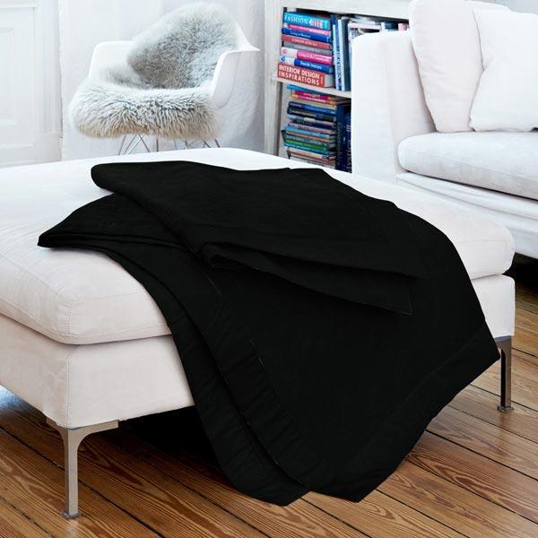 Tissu polaire - noir