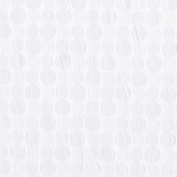 Jacquard stretch Cercles – blanc