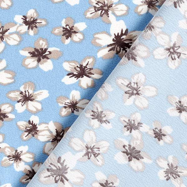 Stretch Tissu crêpe Petites fleurs – bleu clair