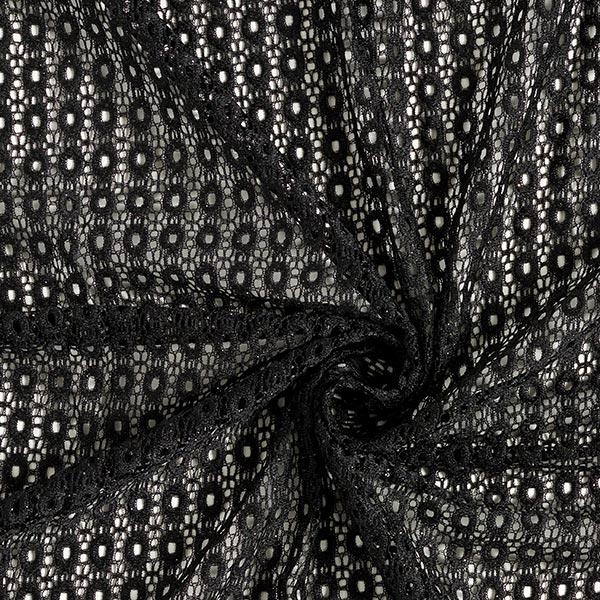 Dentelle Petits ornements ronds – noir