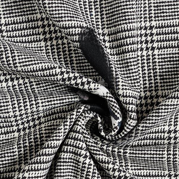 Tissu pour manteau Prince-de-Galles Points feutrés – noir/blanc
