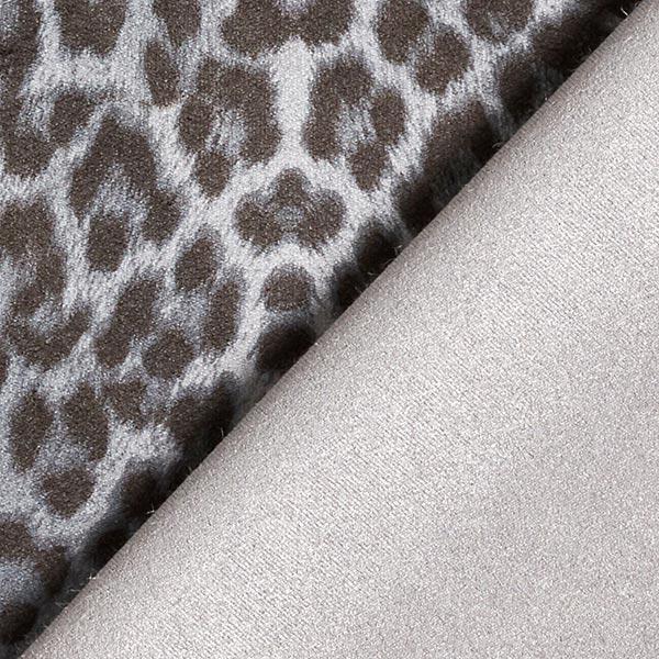 Daim stretch Imprimé léopard – gris clair/anthracite
