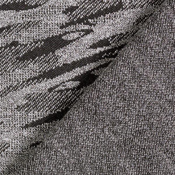 Jersey Jacquard Rayures camouflage – gris foncé