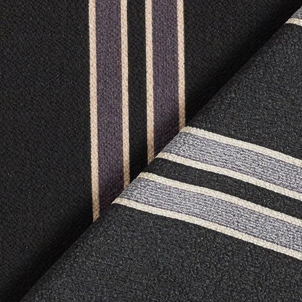 Tissu pour chemisier Tissu crêpe Grosses rayures – noir/anthracite