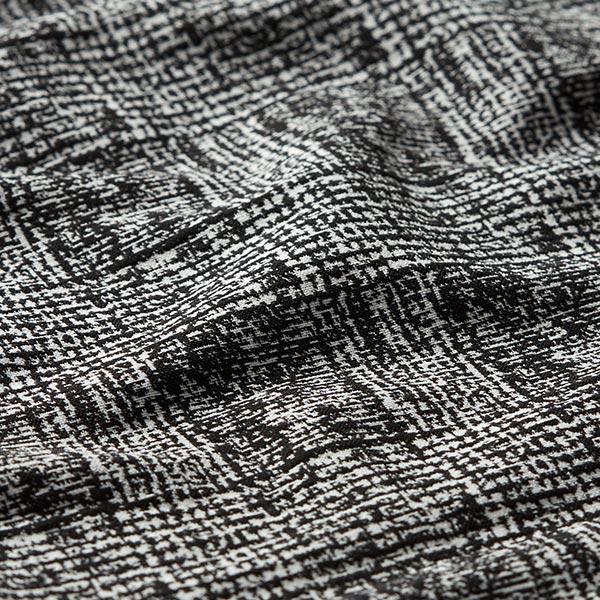 Jacquard d'habillement Stretch Abstrait – noir/blanc