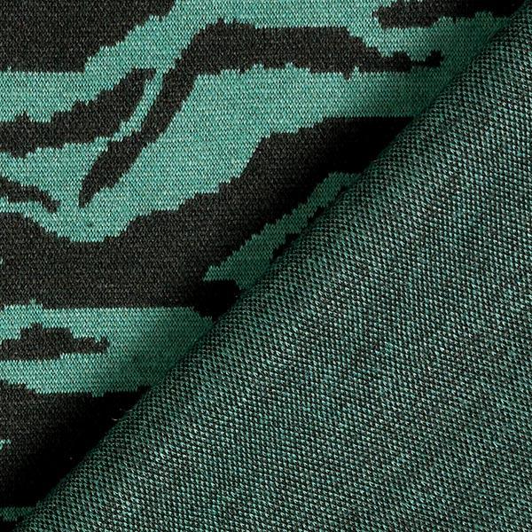 Jacquard maille Mélange viscose Rayures tigre – vert foncé/noir