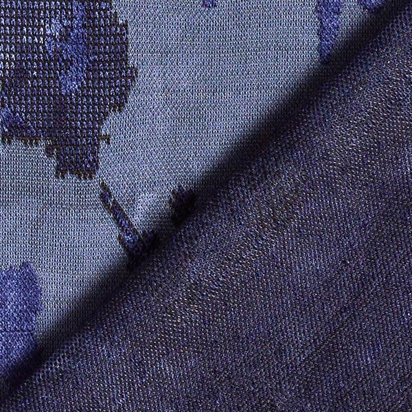 Jacquard maille Mélange viscose Motif camouflage – bleu marine/anthracite