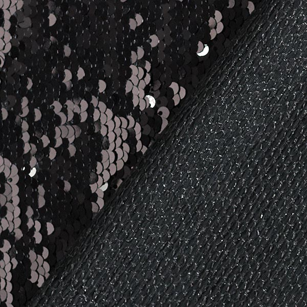 Jersey à paillettes Paillettes réversibles – noir/argent