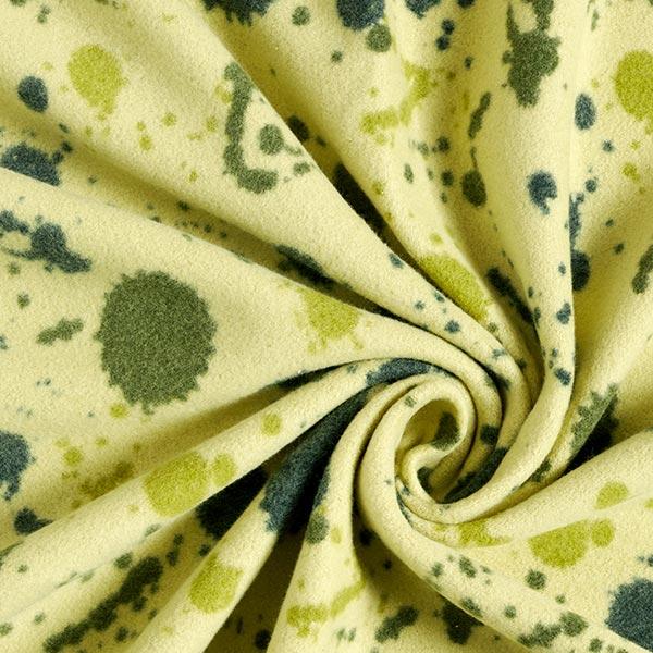 Polaire de coton Taches colorées – vert tilleul