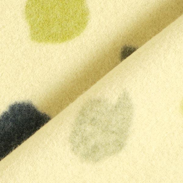 Polaire de coton Points – vert tilleul