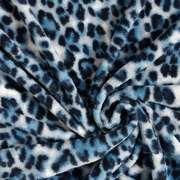 Polaire bien-être Motif léopard – bleu/blanc