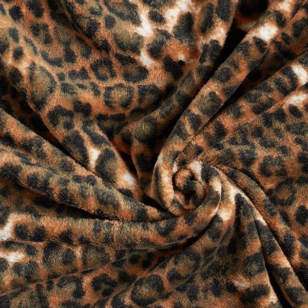 Polaire bien-être Motif léopard – marron/kaki
