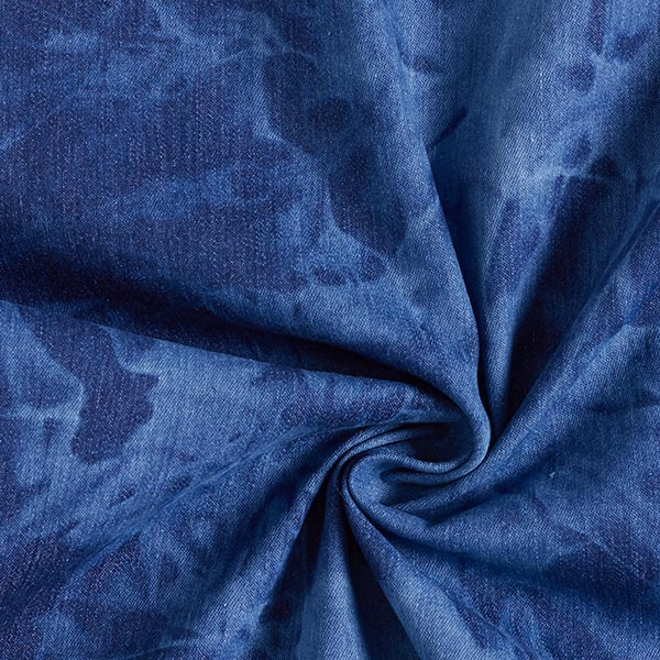Chambray Stretch Batik – bleu jean