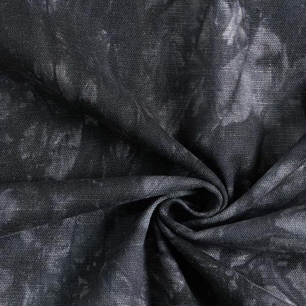 Mélange viscose lin Batik – noir