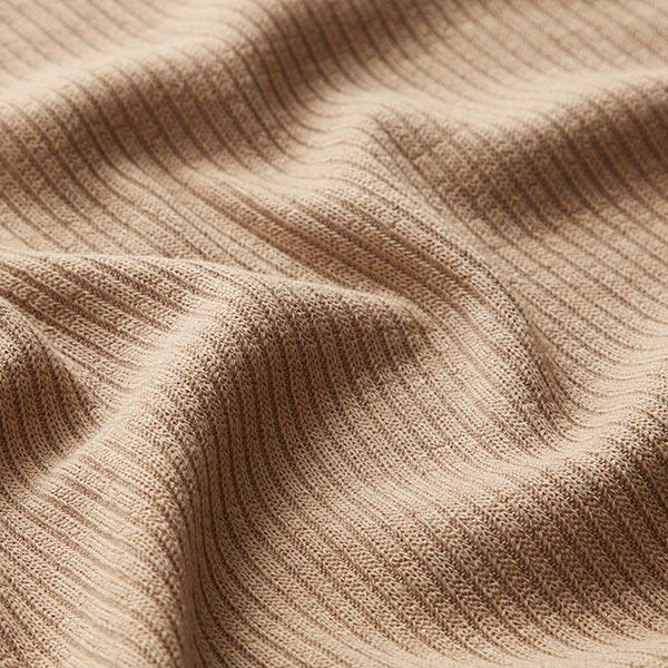 Feiner Rippenstrick Uni – sand