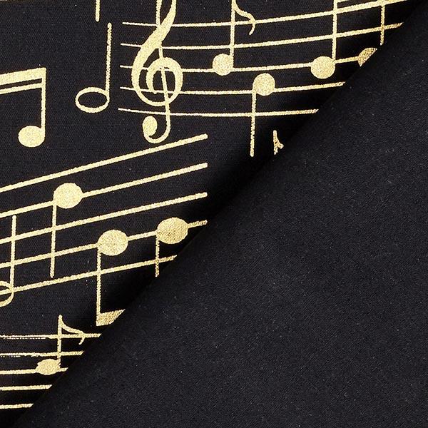 Tissu en coton popeline portées – noir/or