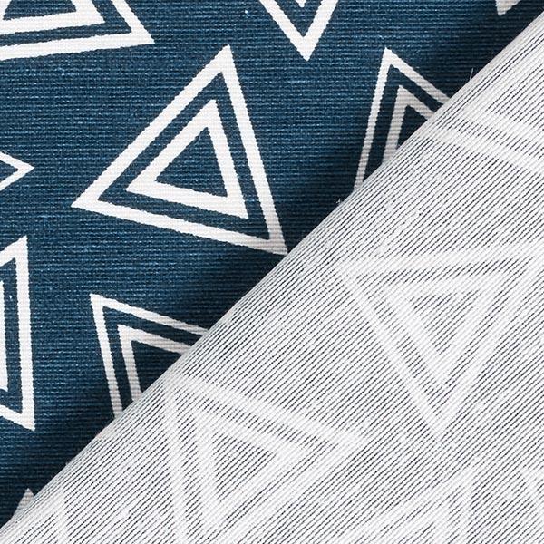 Tissu décoratif toile triangles doubles – bleu nuit