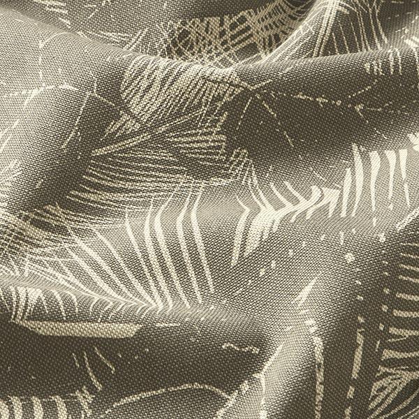 Tissu décoratif semi-panama nervures de feuilles – beige foncé