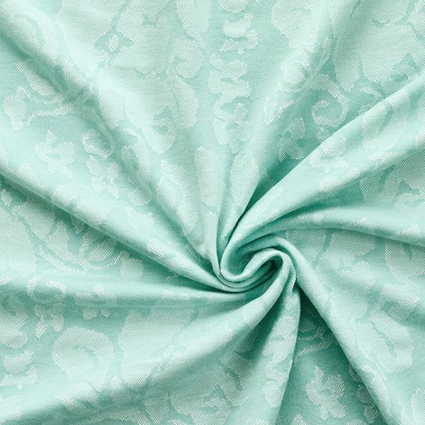 Jersey jacquard Petites fleurs – vert pastel