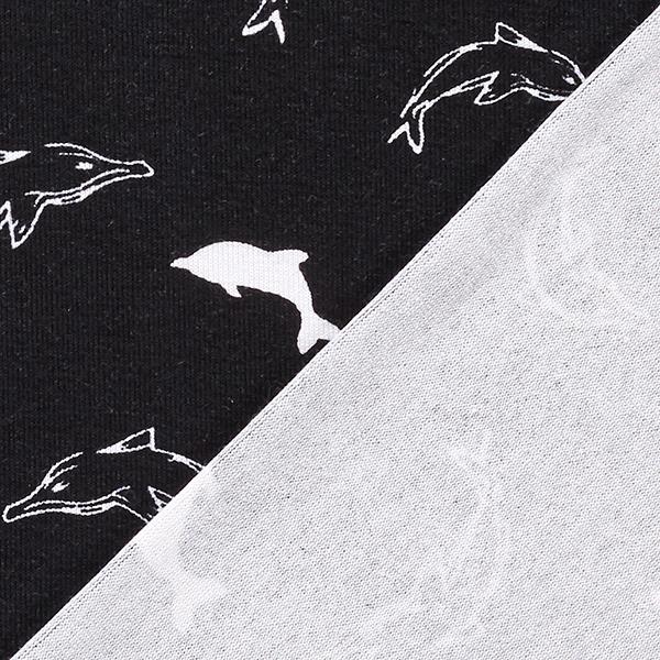Jersey viscose Dauphins – noir