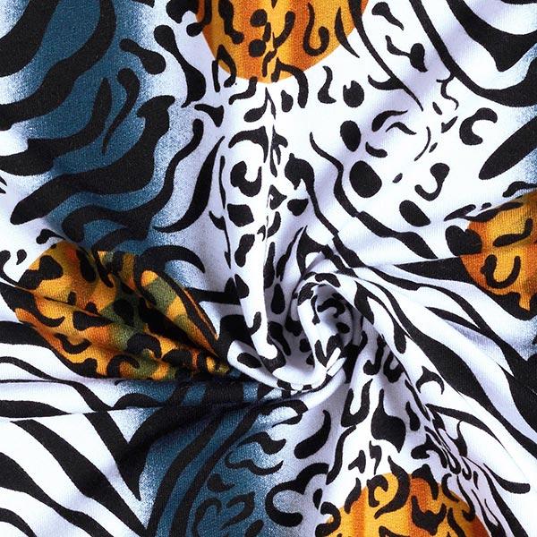 Jersey viscose Mélange tigre-léopard – jaune ocre