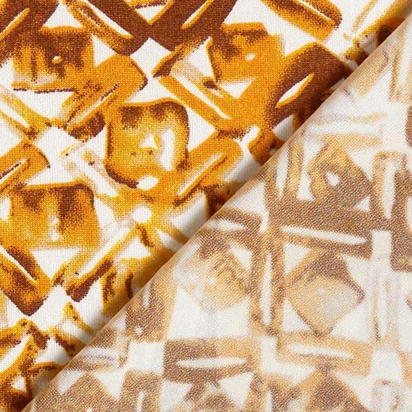 Jersey polyester Losanges & carreaux – jaune ocre