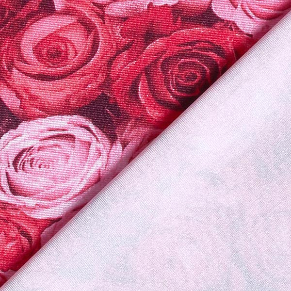 Jersey polyester Mer de roses – rouge