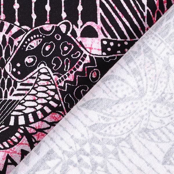 Jersey coton Motif aztèque – rose vif