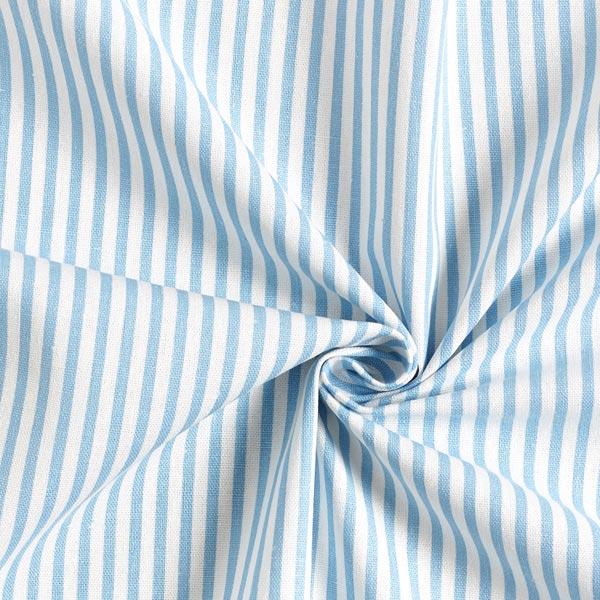 Mélange viscose lin Rayures verticales – bleu clair