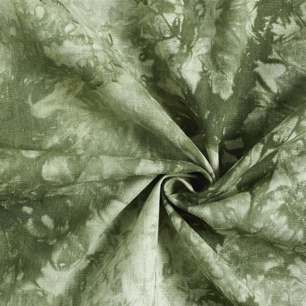 Mélange viscose lin Batik – olive