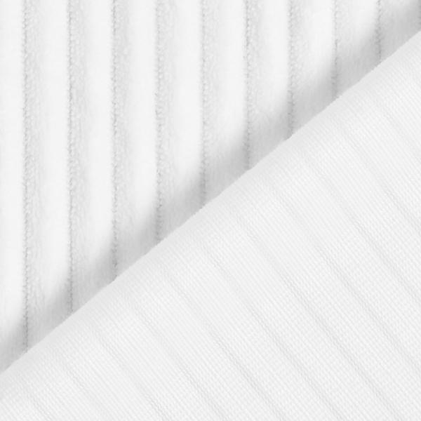 Velours côtelé moelleux – blanc