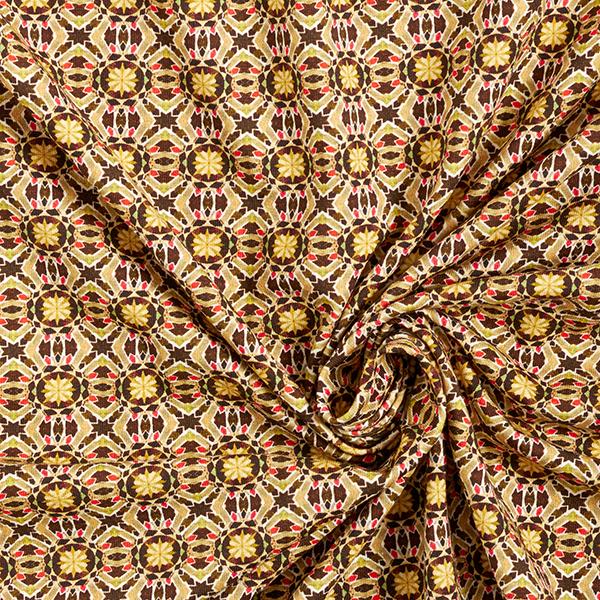 Jersey coton Motif kaléidoscope – beige