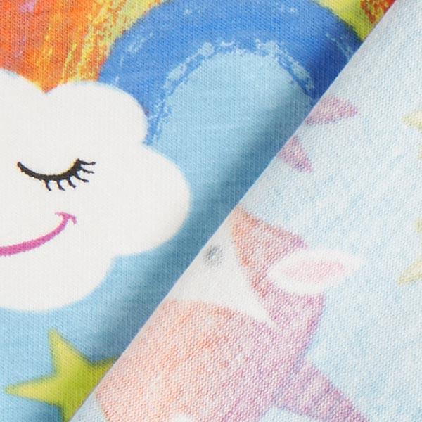 jersey coton licorne Happy Yuni – bleu clair