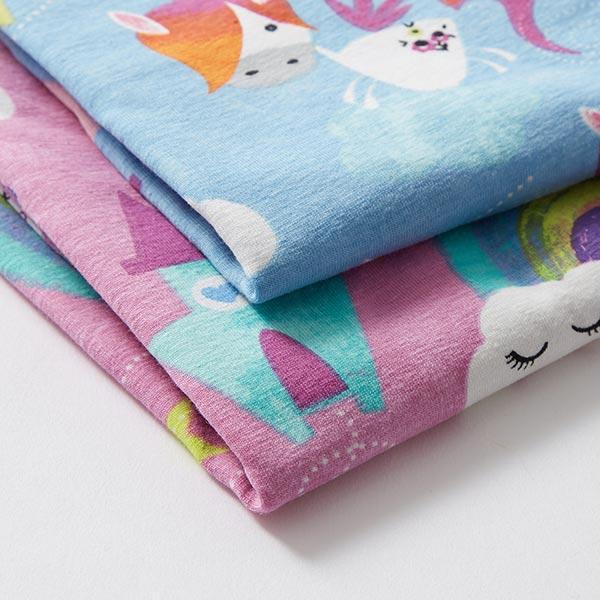 jersey coton licorne Happy Yuni – rose