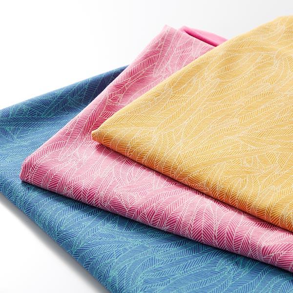 Jersey coton Feuilles de bananier – bleu roi