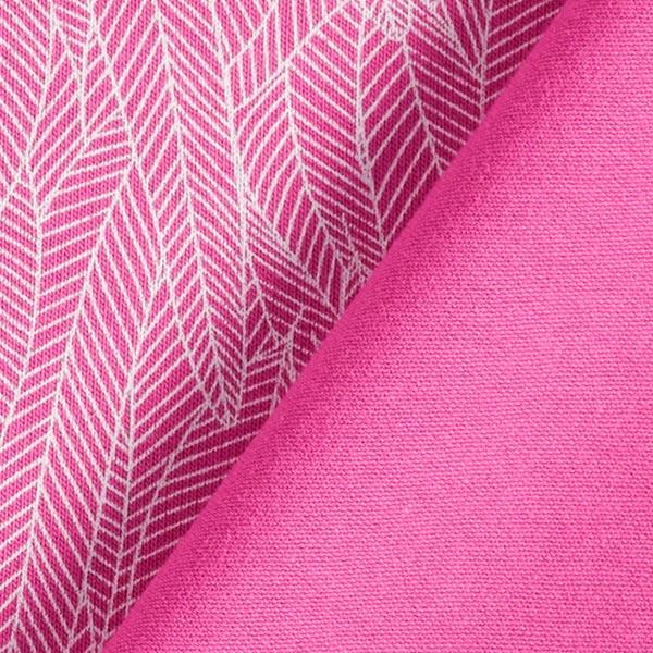Jersey coton Feuilles de bananier – rose vif