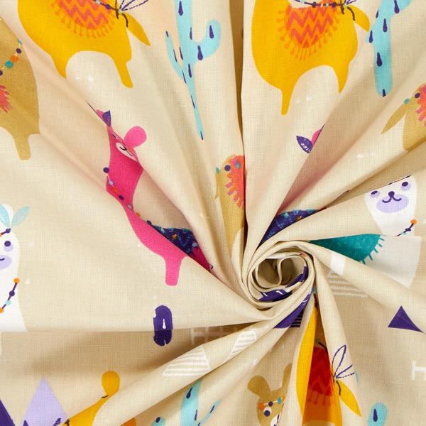 Tissu en coton Cretonne alpaga – beige